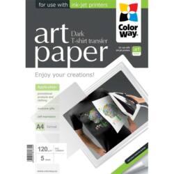 COLORWAY Fotópapír, ART series, pólóra vasalható fólia, sötét (ART T-shirt transfer (dark)), 120 g/m2, A4, 5 lap