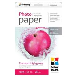 COLORWAY Fotópapír, prémium magasfényű (premium high glossy), 255 g/m2, 10x15, 50 lap