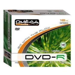 OMEGA-FREESTYLE DVD lemez -R 4.7GB 10db/Csomag 16x Slim tok
