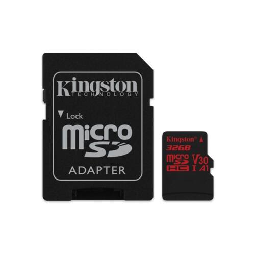 KINGSTON Memóriakártya MicroSDHC 32GB Canvas React 100R/70W U3 UHS-I V30 A1 + Adapter