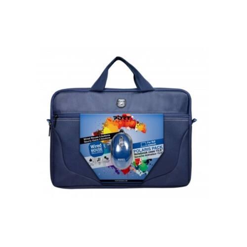 """Port Designs notebook táska, POLARIS II BUNDLE 15,6"""", kék + vezetékes egér"""